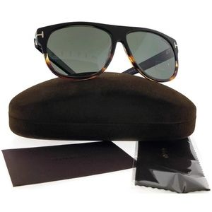 FT0375-05R-59 Men's Black Frame Sunglasses NWT